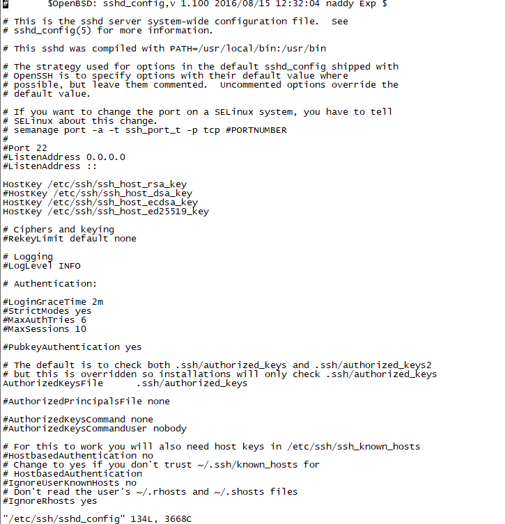 centos修改ssh默认22端口为其他端口