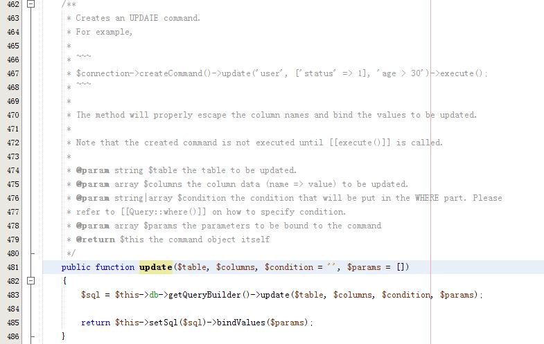 Yii2使用批量更新数据库字段方法非循环更新