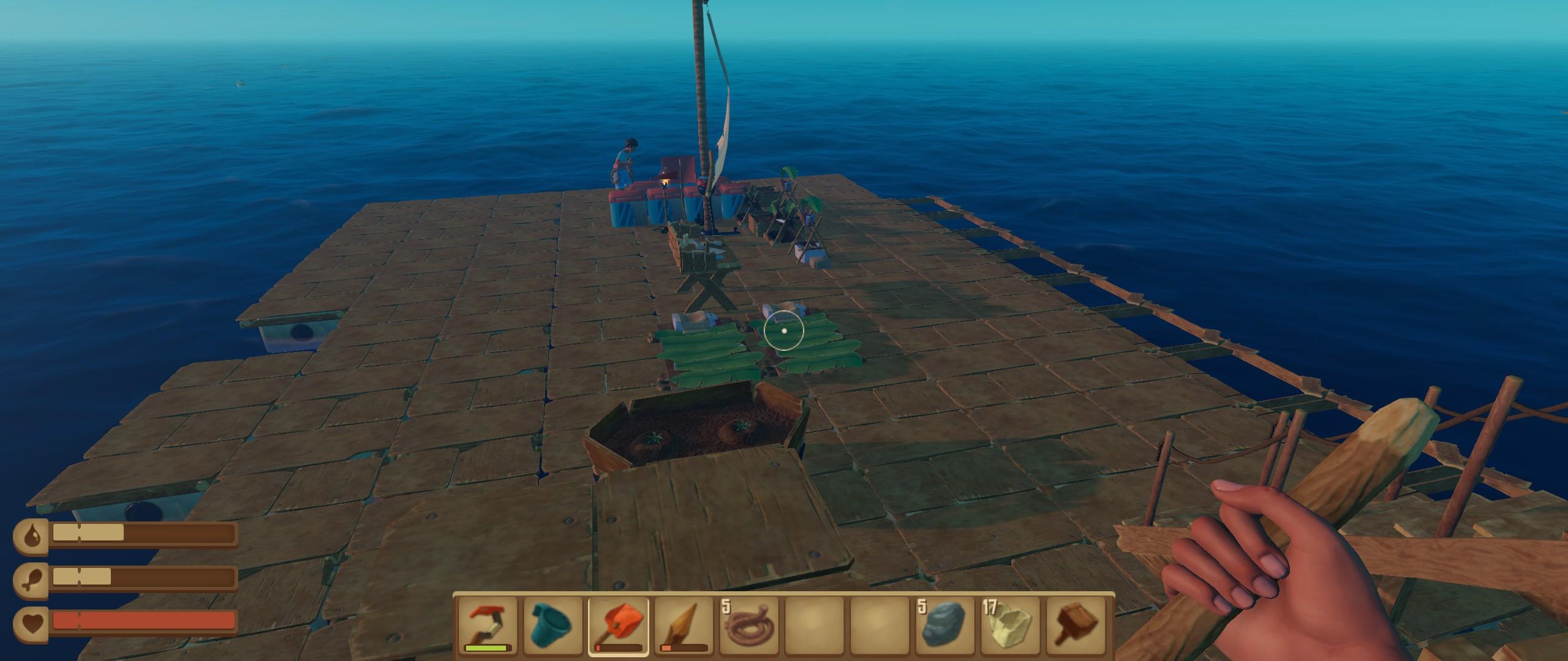 海上木筏生存Raft的研究台的作用