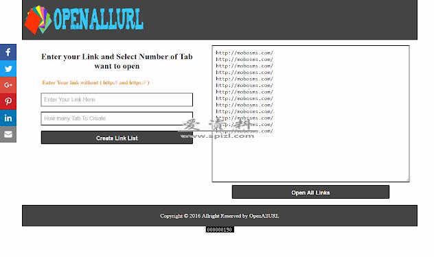 Open All Url 批量打开网址 谷歌插件