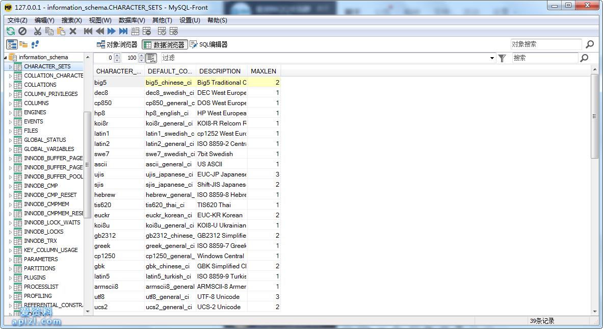 MySQL-Front 6.1 免费的数据库管理工具