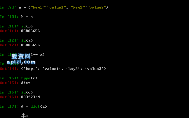 Python3 字典的复制与修改