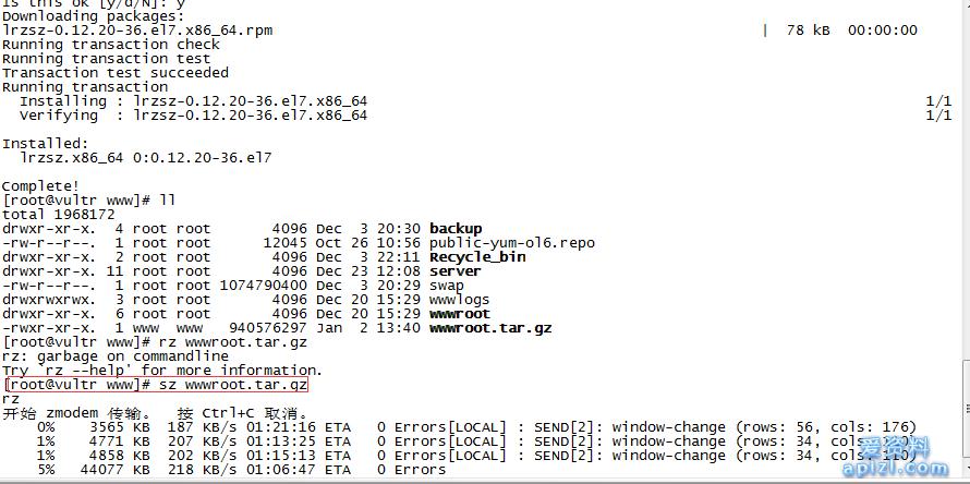 secureCRT使用rz和sz上下传文件到本地