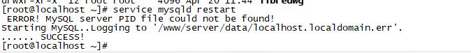 mysql 启动提示Plugin 'InnoDB' init functi