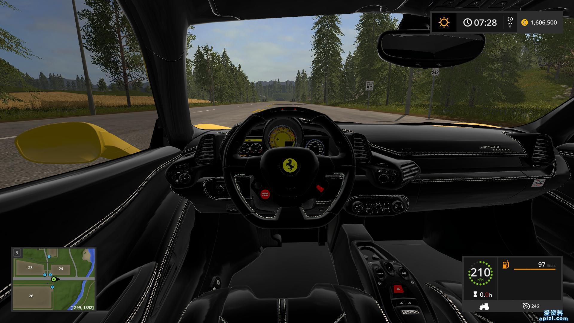 模拟农场17 MOD 汽车 法拉利458  Italia