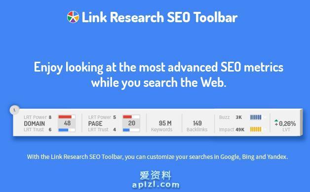 研究搜索引擎优化链接工具栏 谷歌插件