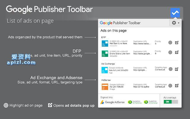 谷歌广告信息条 Google Publisher Toolbar 谷歌插件